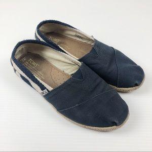 Toms Womens 7 Navy Blue Espadrille Shoes